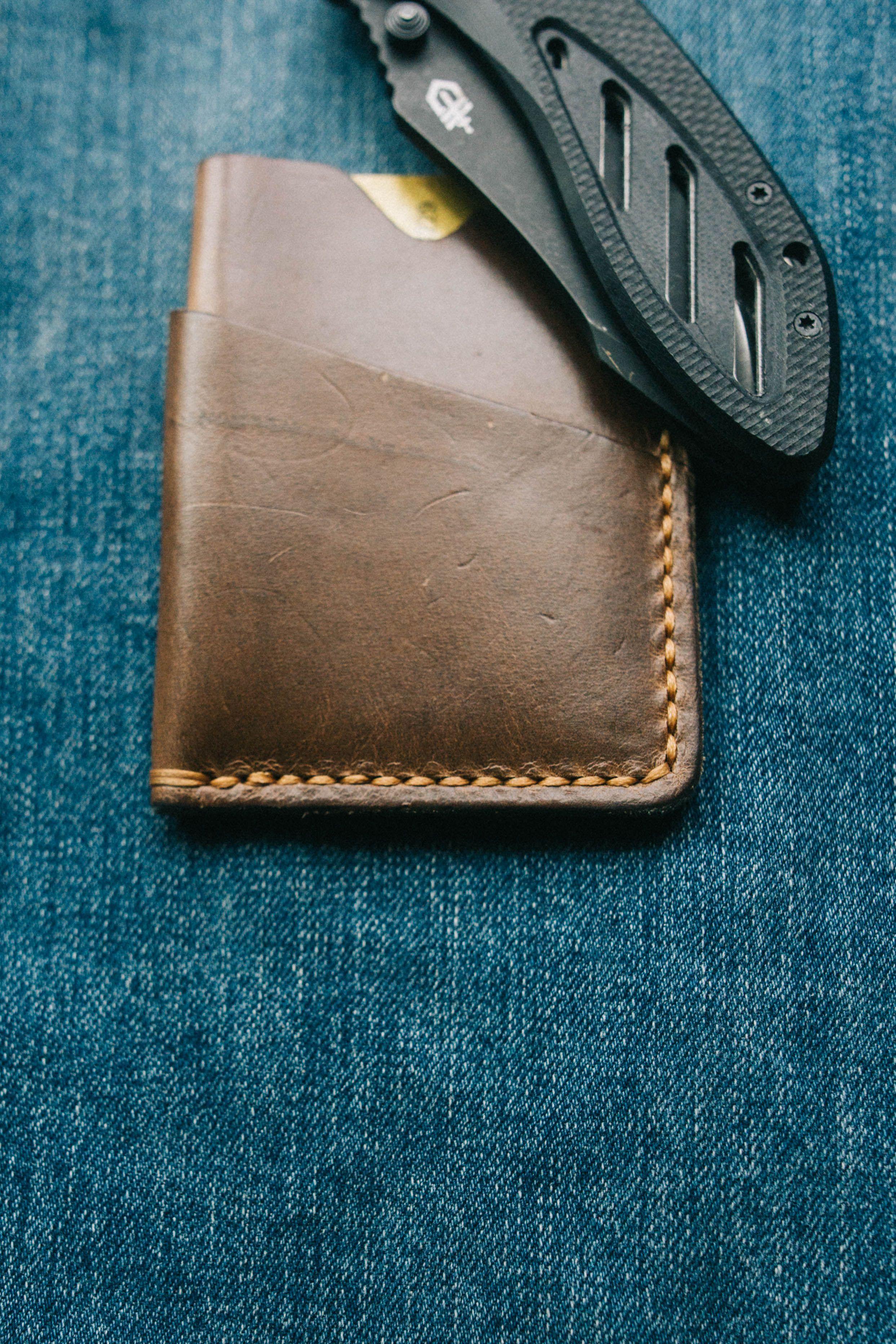 Handmade  Horween Navy Chromexcel Cardholder Wallet