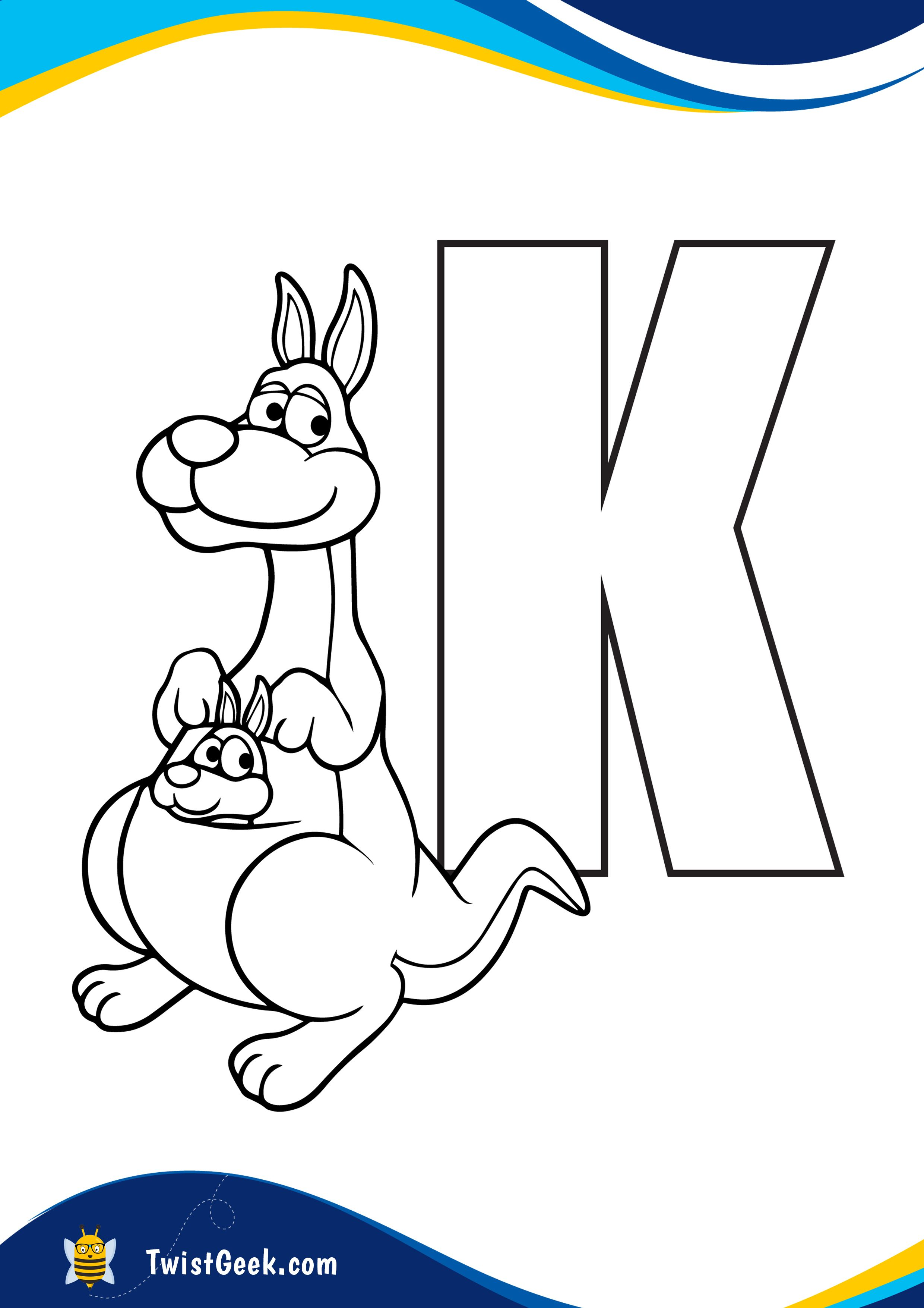 Letter K Coloring Pages I