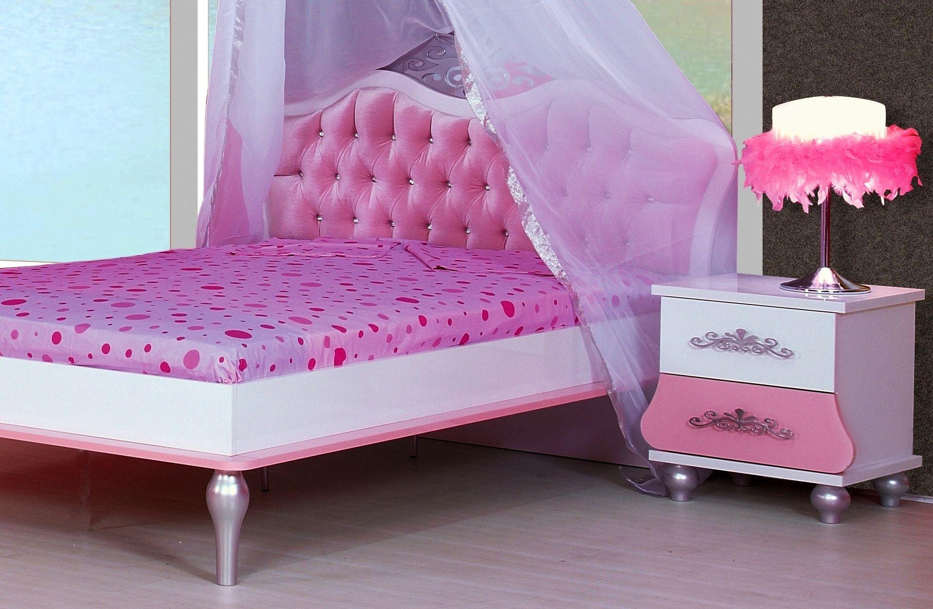 Prinses Kinderkamer Set : Prinses roze meisjesbed kinderkamer prinsessenkamer