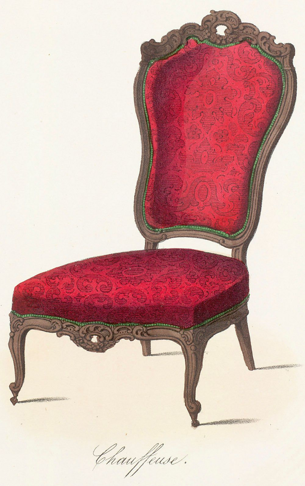 Red chair french from le garde meuble ancien et for Le meuble furniture