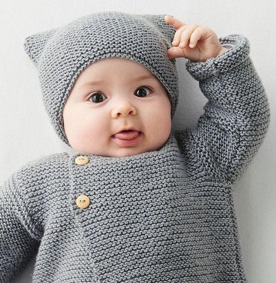 Modèle Bonnet Phil Mérinos 3,5   Tricot, Bonnet bébé tricot