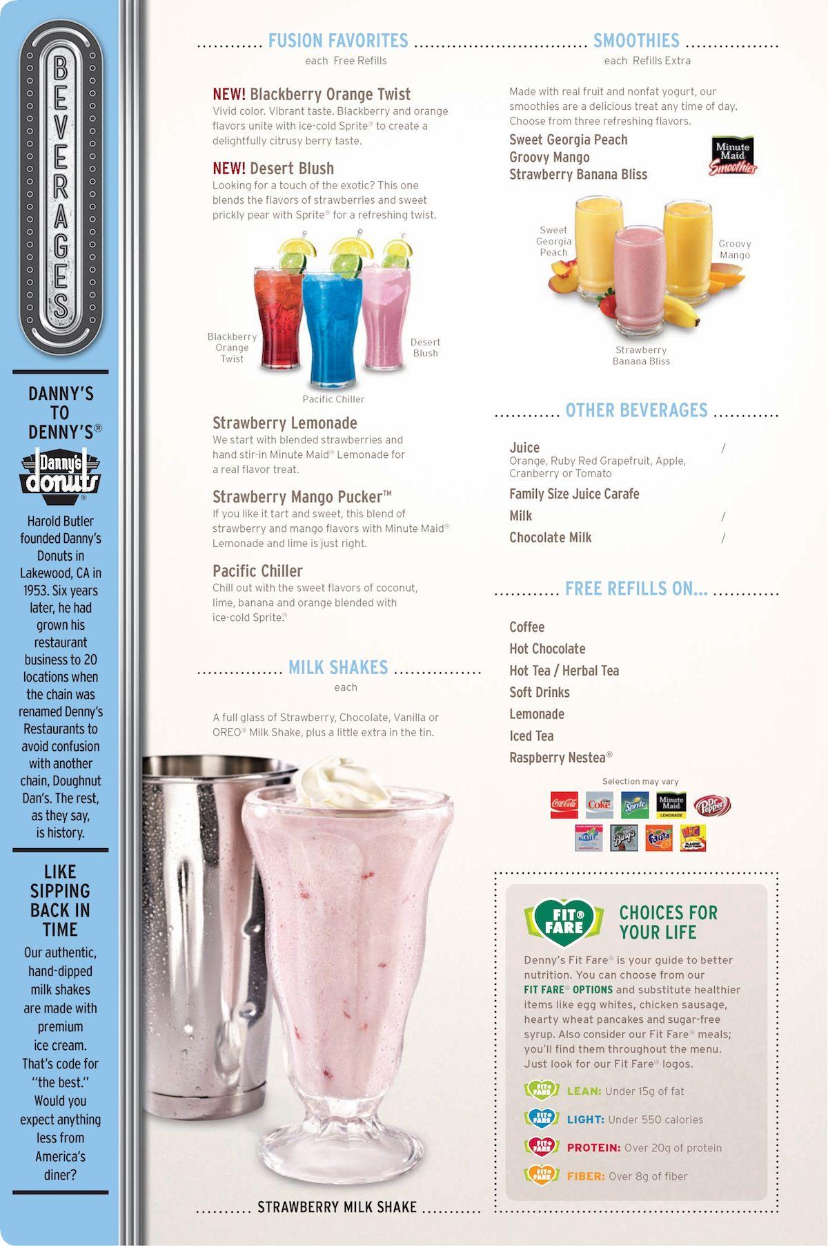 Denny\'s beverage menu • dennys.com | Menu Design | Pinterest | Menu ...