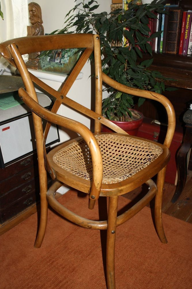 Vintage Antique Chair 20th Century Plaited Seat Archery