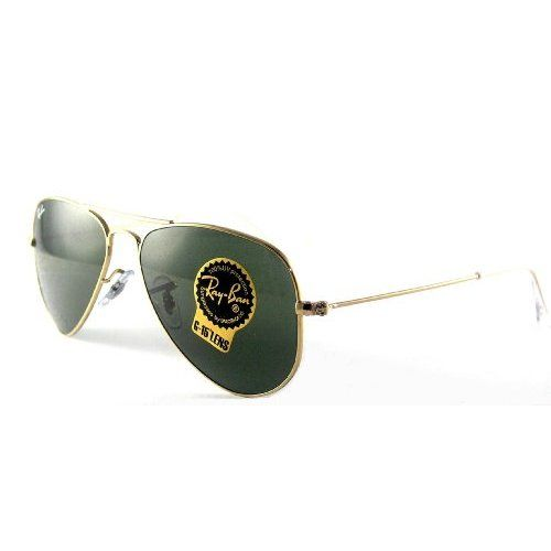 Ray-Ban 0RB3044 Aviator Sunglasses,Arista Frame/Green Lens,One Size ...