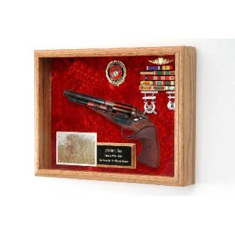 Pistol Display Case Pistol Shadow Box Hand Made By Veterans Pistol Display Case Guns Display Medal Display Case