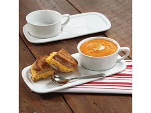 CHEFS Soup \u0026 Sandwich Set Serve soup and a sandwich single-handedly with this durable porcelain soup bowl and sandwich plate set.  sc 1 st  Pinterest & Soup and Sandwich Set (4-pc.) by CHEFS at Food Network Store   cup ...