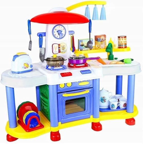 Duza Kuchnia Dla Dzieci Zestaw Akcesoria Garnki Garnki Dzieci I Kuchnia