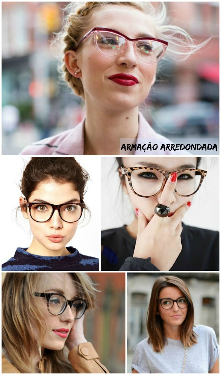 a64f55dd4 Óculos de grau arredondados - modernos e antenados. Encontre este Pin e  muitos outros na pasta Quatro olhos ...