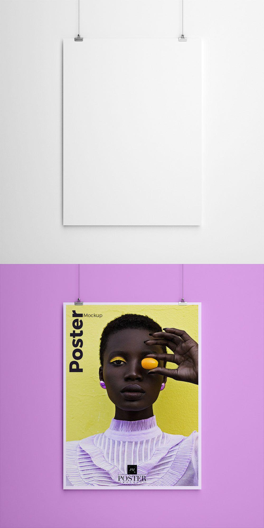 Free Hanging Clips Poster Mockup Poster Mockup Free Poster Mockup Frame Mockup Free
