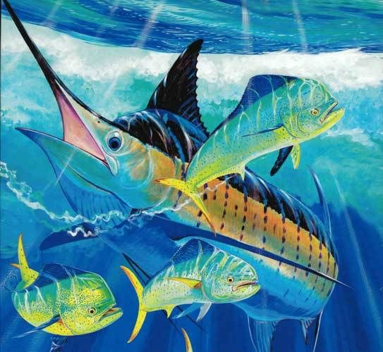 Guy harvey 550 piece jigsaw puzzle largemouth bass guy for Piece of fish