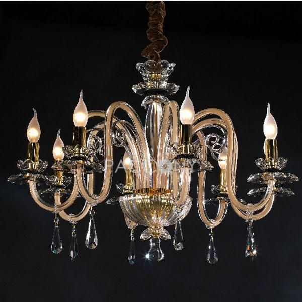 US$749.99 Classic Crystal Candle Style Chandeliers with 8 Lights Golden Painting http://www.paccony.com/Crystal-Chandeliers-841/