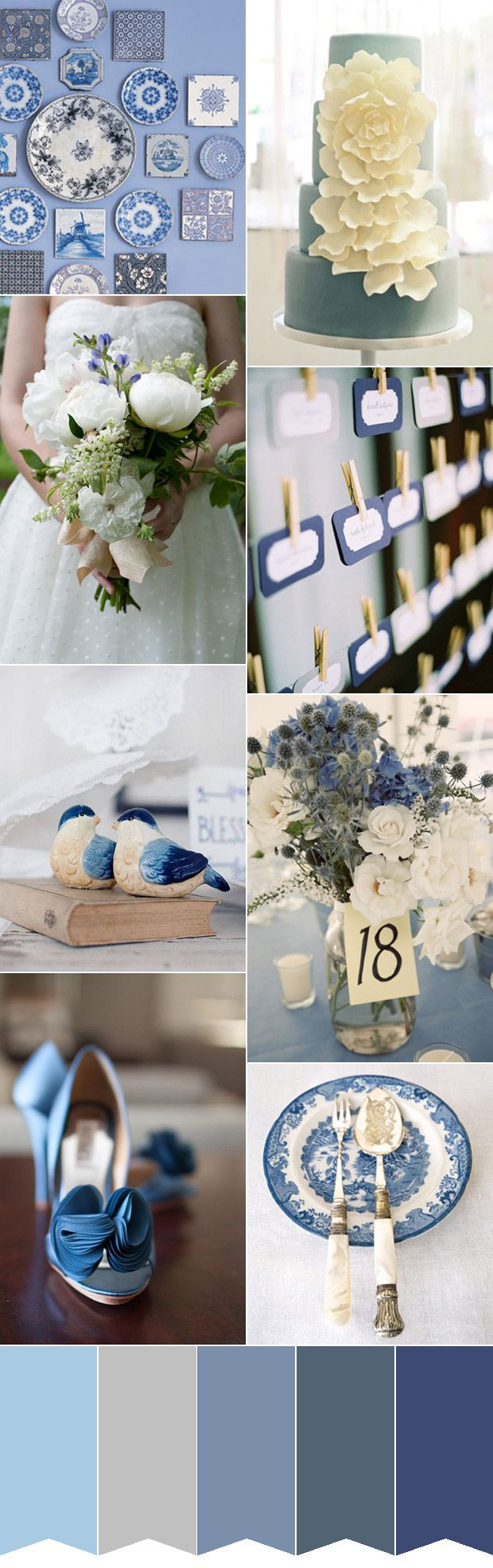 Blue and white wedding decor  A Willow Pattern Wedding Blue and White China Pattern Blue u White
