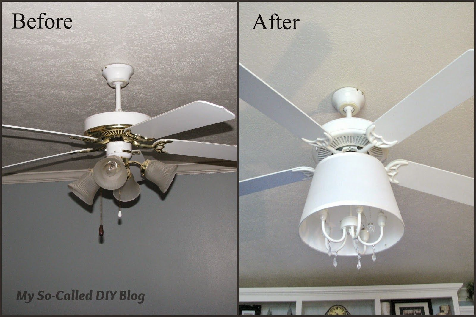Ceiling Fan Into Chandelier My So Called Diy Blog Diy