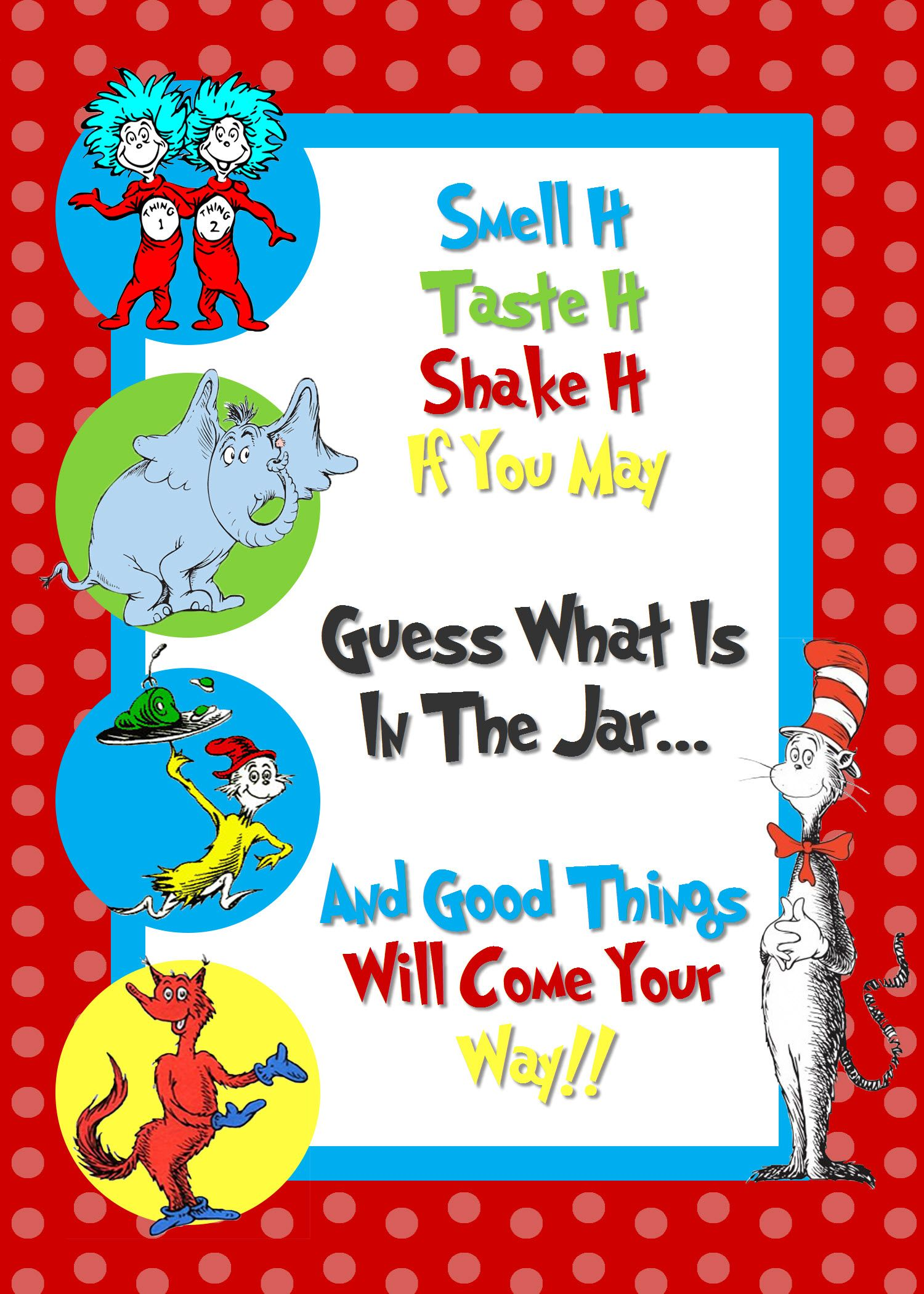 Dr. Seuss Baby Food Game