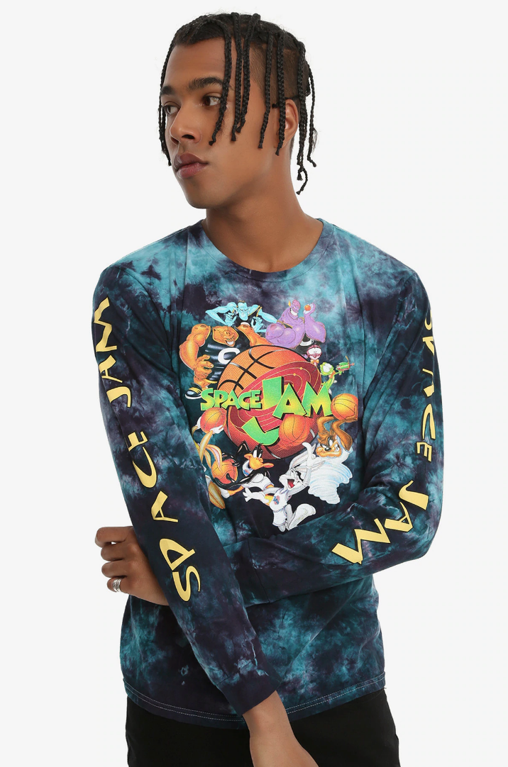 Looney Tunes Men/'s Space Jam Tune Squad Group Long Sleeve Licensed T-Shirt New