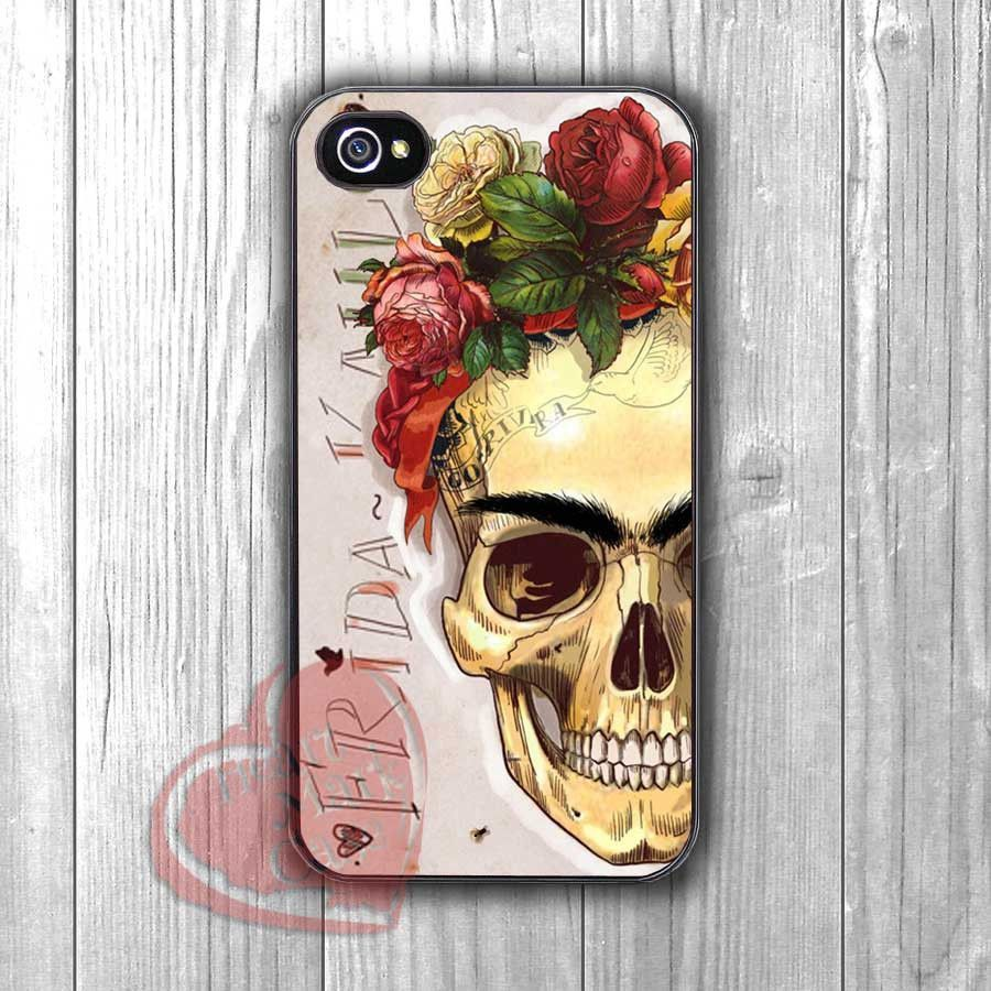Frida Kahlo Skull Inspired -tri for iPhone 6S case, iPhone 5s case ...
