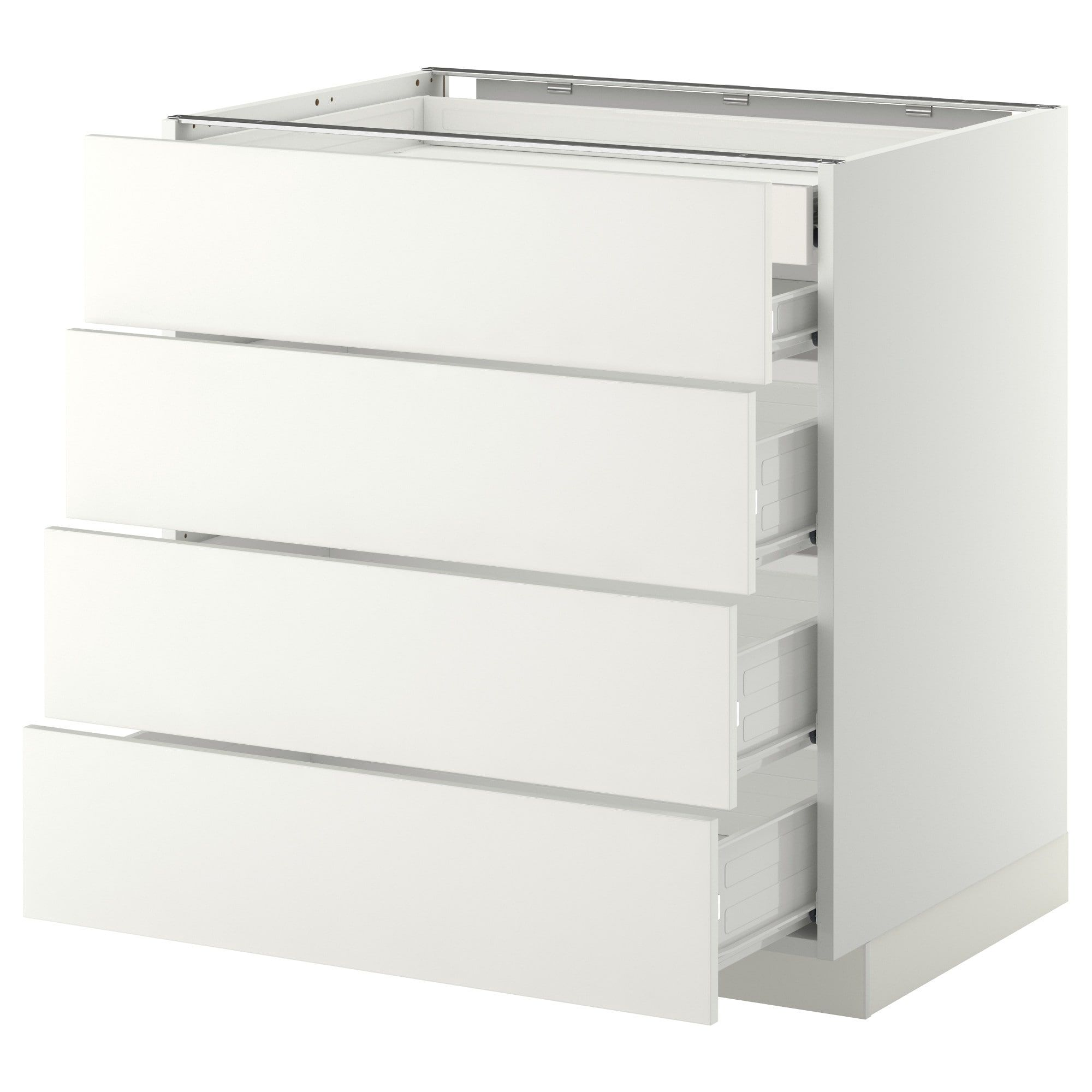 Metod Forvara Elt Bas 4faces 2tiroirs Bas 3moyens Blanc Haggeby Blanc 80x60 Cm Ikea En 2020 Meuble Bas Meuble Bas Cuisine Mobilier De Salon