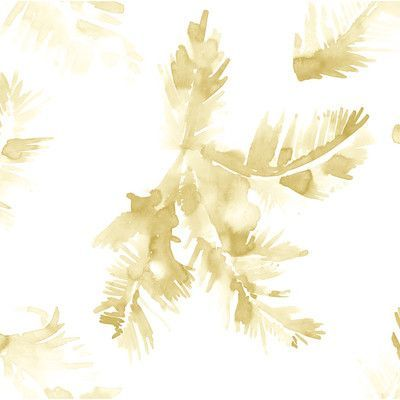 """Coordonne Lara Costafreda 33' x 21"""" Palmeras Wallpaper Color: Gold"""