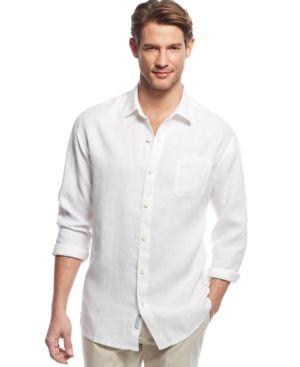 652814493a6d Tommy Bahama Big   Tall Sea Glass Breezer Linen Shirt - Blue XLT ...