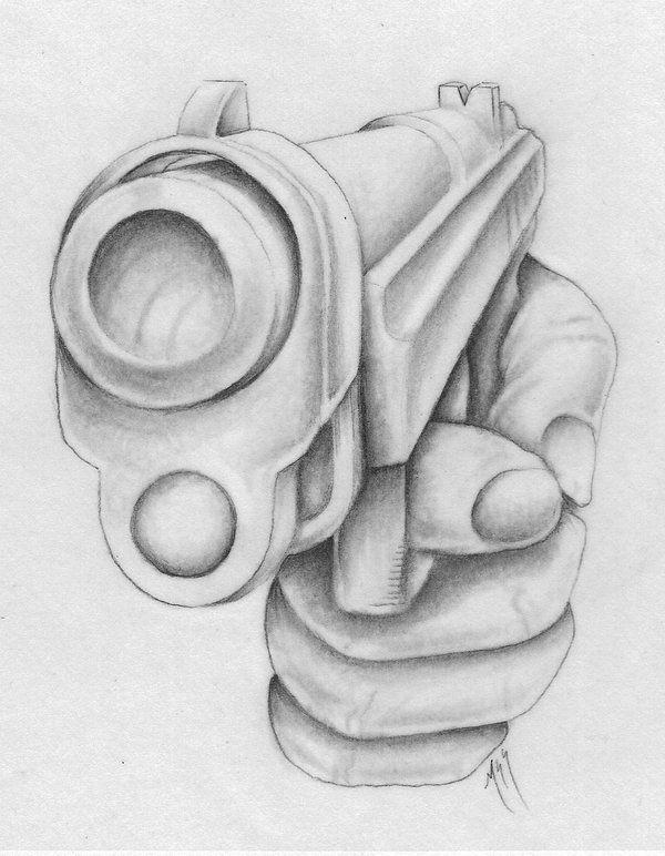 Handgun By Markfellows Tattoo University Dibujos De Tatuajes