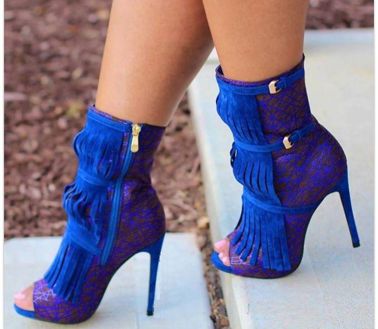 ROYAL BLUE HEELS   Boots, Heels, Shoes