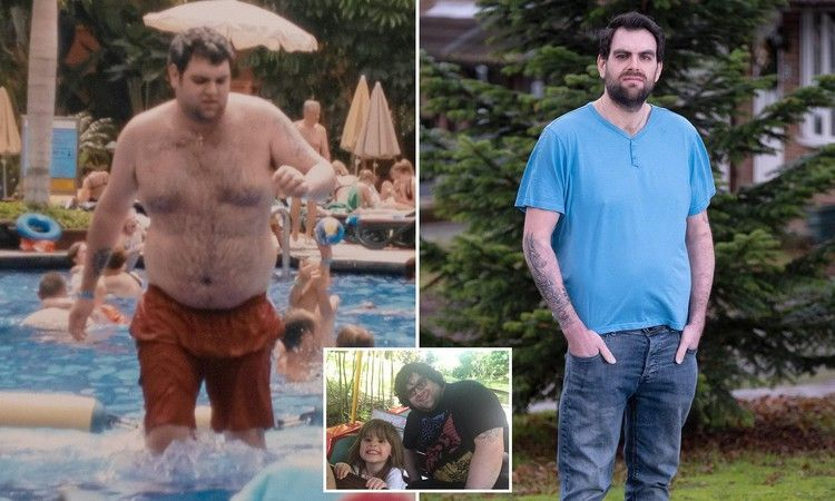 Obese father who weighed 23st loses HALF his body weight  Daily Mail Obese father who weighed 23st loses HALF his body weight  Daily Mail