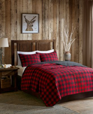 4ae55fe226 Woolrich Buffalo Check Reversible 3-Pc. Oversized King/California King Quilt  Mini Set - Red