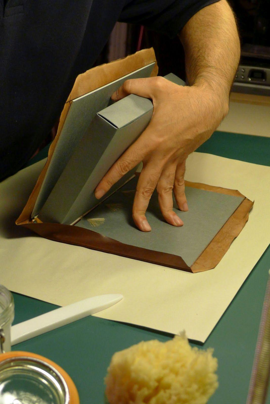 9. Covering The Book Book binding diy, Miniature books