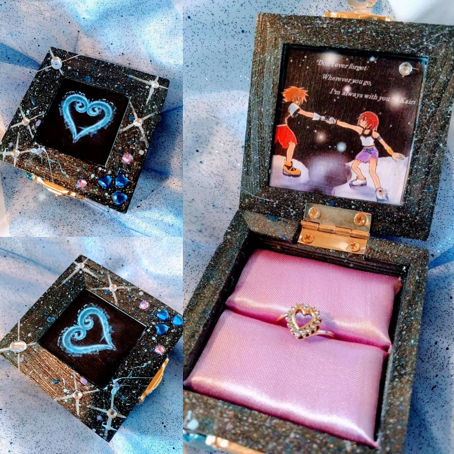 Ring Box Verlobung Kingdom Hearts Inspired Engagement Ring Box W/ Quote