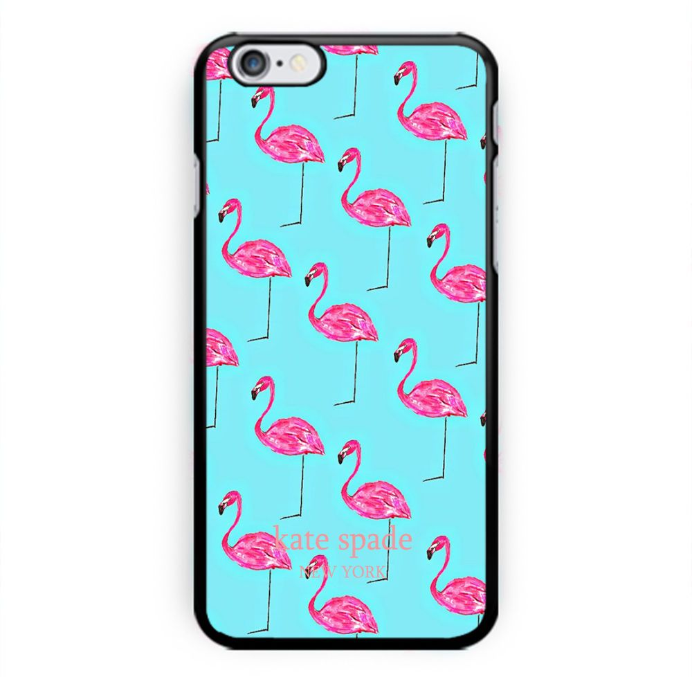 New kate spade mint pink flamingo print on hard case for
