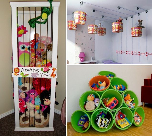 Toy storage DIY Crafts Pinterest Kids bedroom