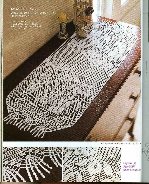 crochet oval tablecloth