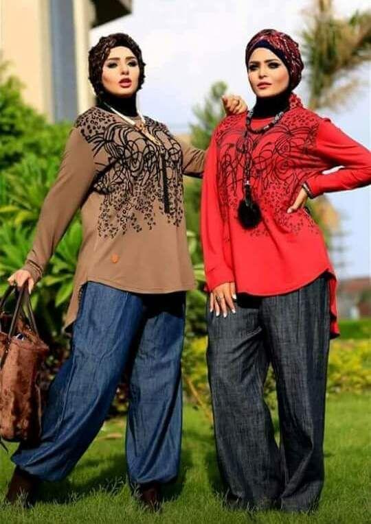 بنطلون جينز حريمي واسع القماش تركي تقفيل مصري Women S Top Fashion Women