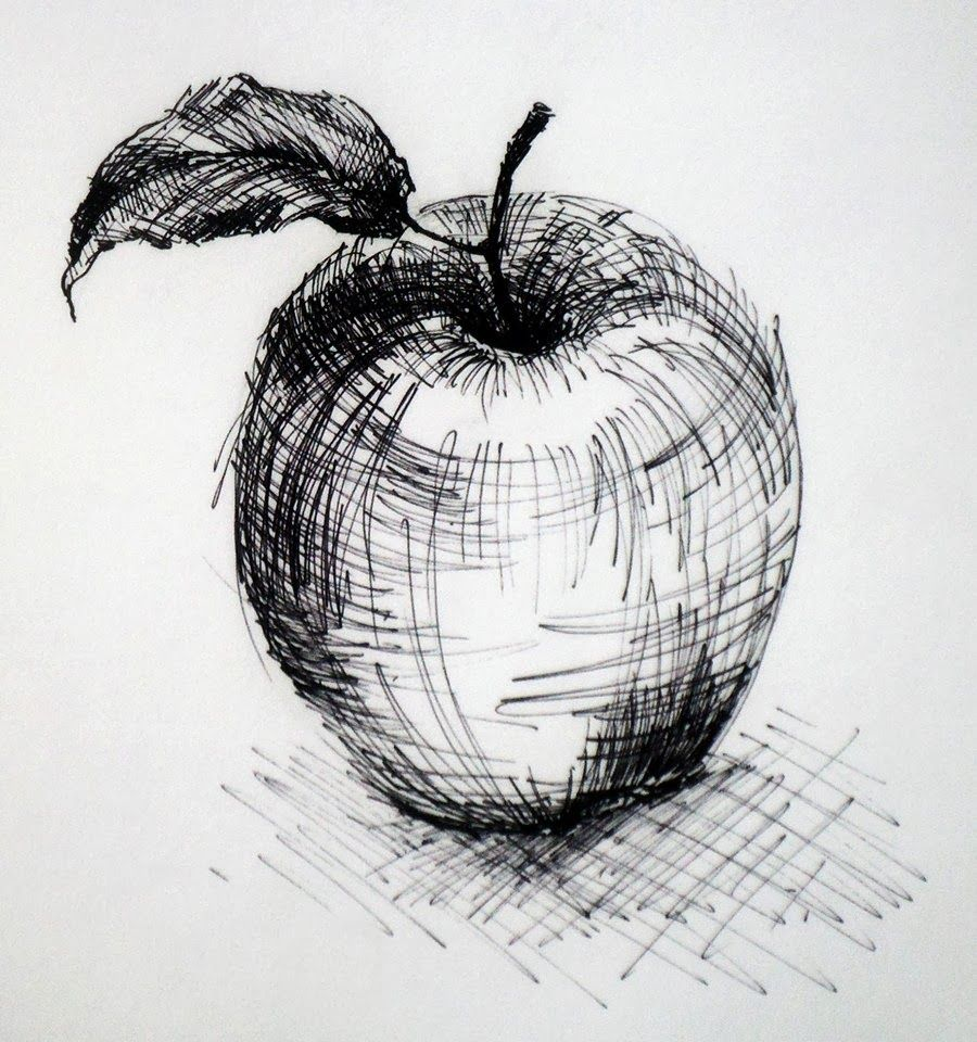 D Line Drawings Value : Cross hatching with the combination use of layering and