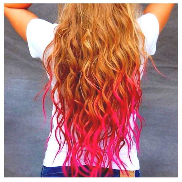 Awesome dip dyed hair