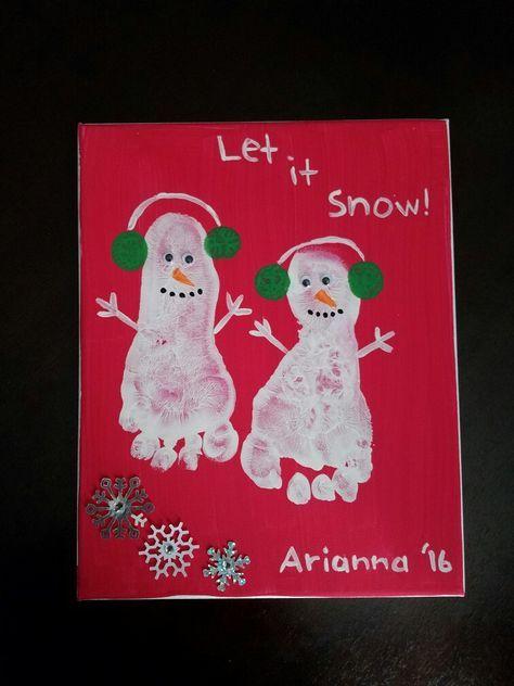 Footprint Christmas Craft Craft Ideas Pinterest Christmas