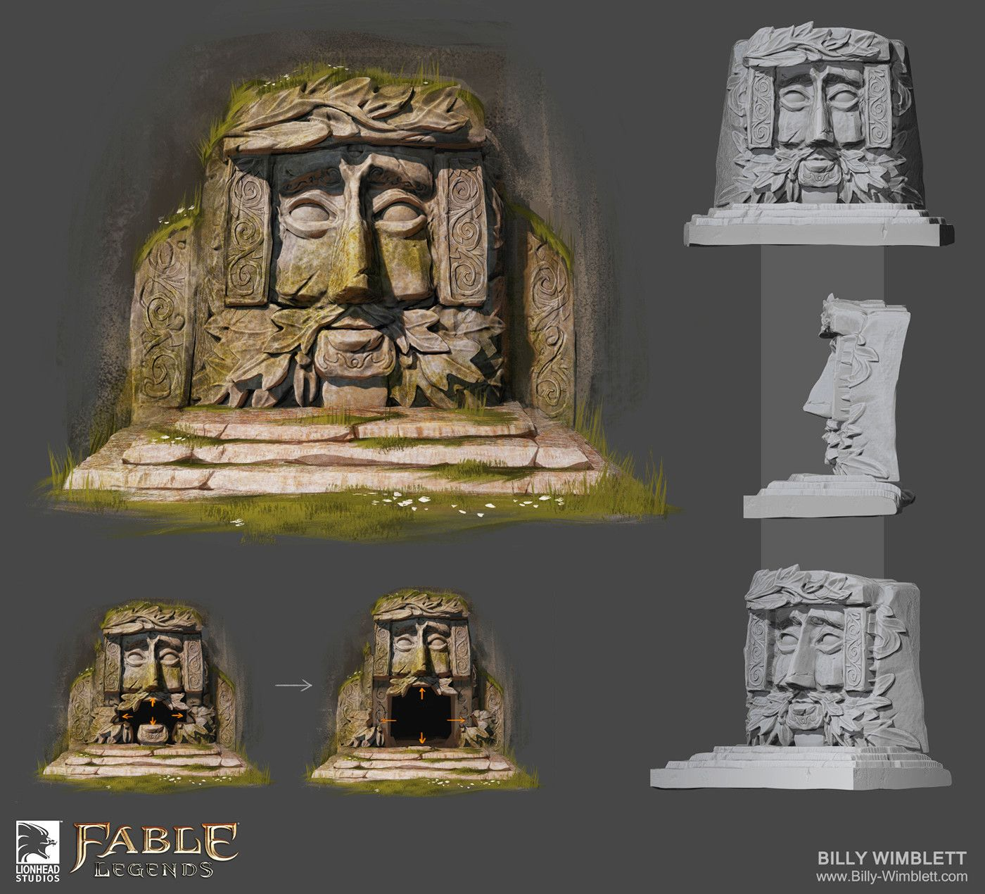 ArtStation - FABLE LEGENDS The Demon Doors Billy Wimblett & ArtStation - FABLE LEGENDS: The Demon Doors Billy Wimblett | Forest ...