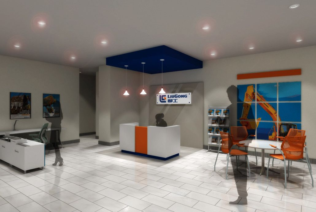 sales office design. 3D Visualization For Heavy Equipment Sales Office Design Concept. PreVision 3D, LLC | F