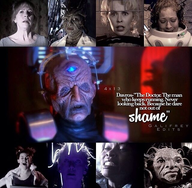 When Davros said this, The Doctor looked so tormented it broke my heart