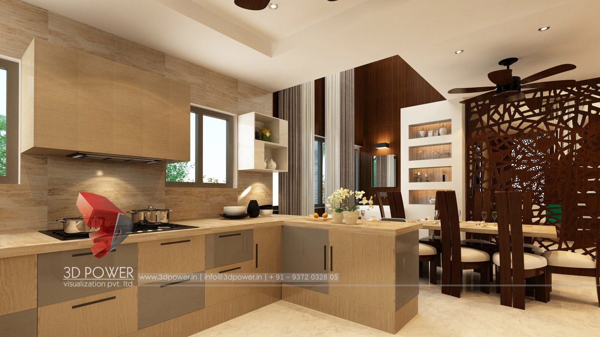 3d Virtual Tour Kitchen Interior Design With Images Home