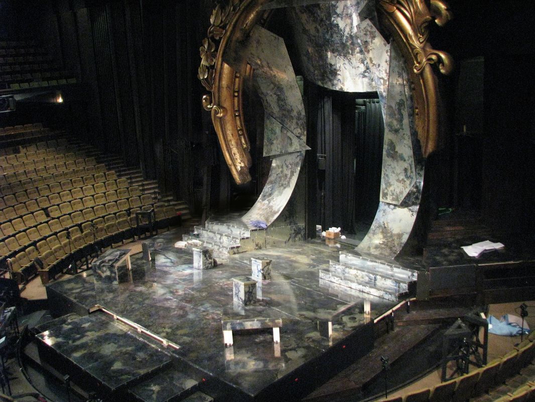 The set of twelfth night directed by des mcanuff and for Tisch design for stage and film