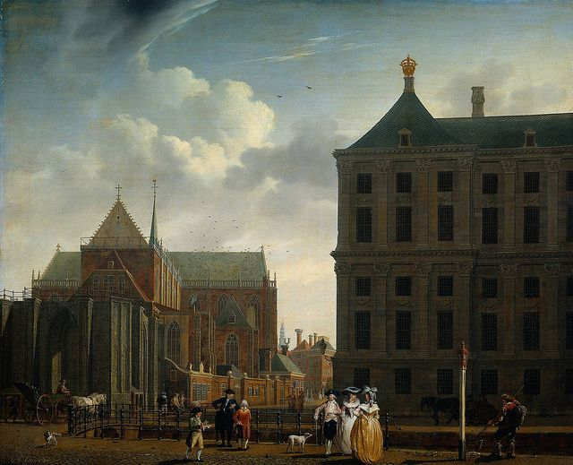 Isaak Ouwater - The Nieuwe Kerk and the Rear of the Town Hall in Amsterdam [c.1782]