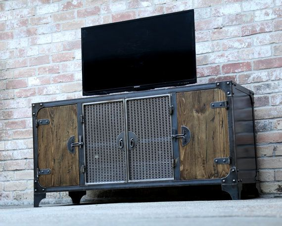 Consola de medios industriales modernos Muebles vintage