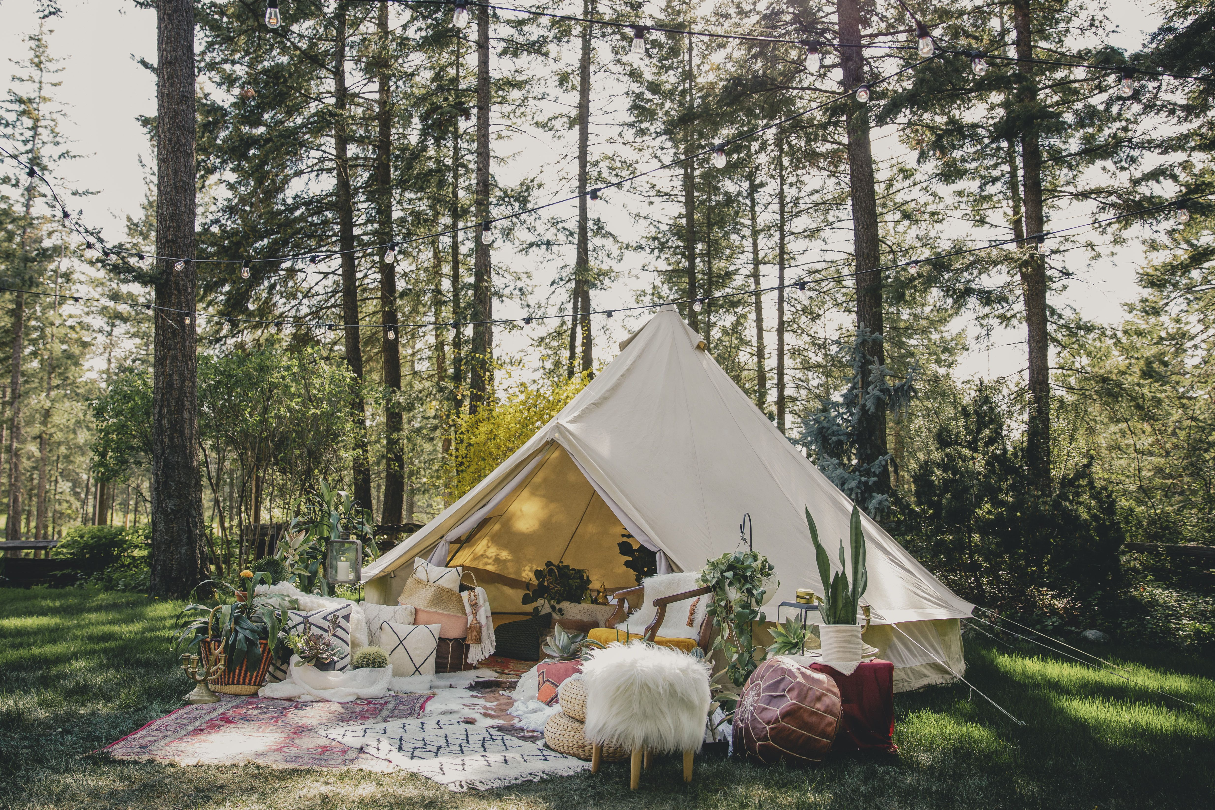 Photo by Lee Watkins. Tent by Luxe C&. Shoot styled by Courtney Ungaro. Clothing by Man Woman Home. Location Caldwell Heritage Farm Kelowna BC. & Photo by Lee Watkins. Tent by Luxe Camp. Shoot styled by Courtney ...