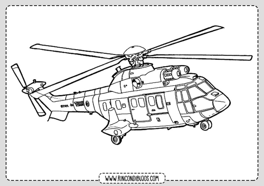 Dibujos De Helicopteros Para Imprimri Y Colorear Rincon Dibujos En 2020 Helicopteros Colores Dibujos