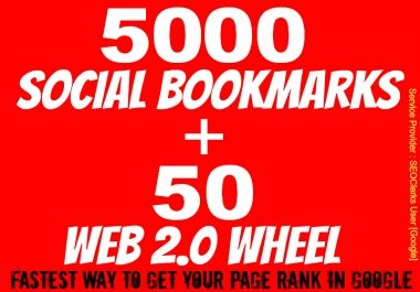 Give You All in One SEO - 5000 Social Bookmark and 50 Web 2.... for $110