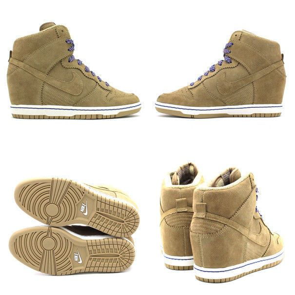 half off 5445c bad75 NIKE DUNK SKY HI HIGH-TOP BAMBOO SUEDE WEDGE SHOES BOOTS WOMENS  Nike   FashionSneakers