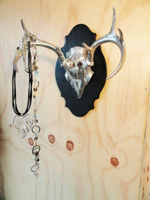 Chrome Deer Skull antler art wall hook | Manualidades | Pinterest ...