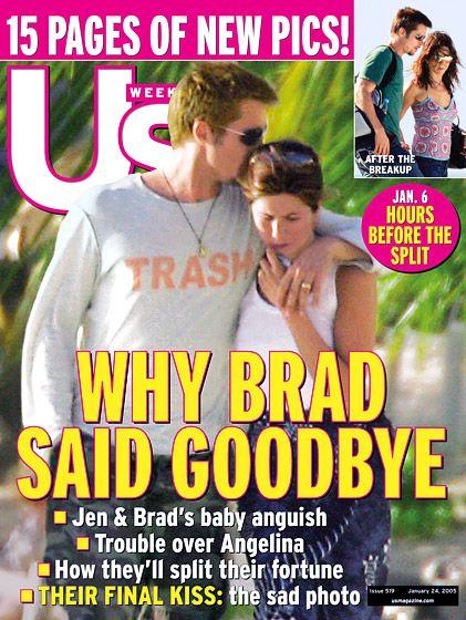 Jennifer Aniston S Us Weekly Covers Brad Pitt And Jennifer Brad Pitt Brad Pitt Jennifer Aniston