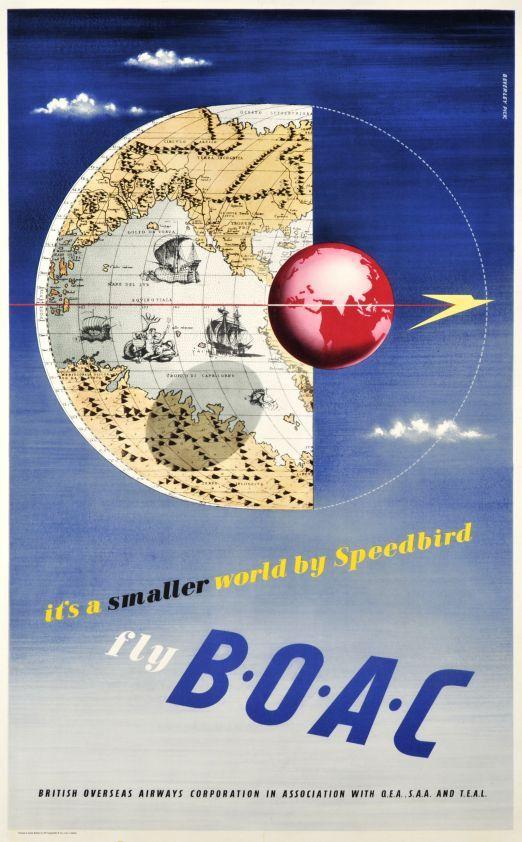 1950 fly boac its a small world by speedbird uk vintage travel 1950 fly boac its a small world by speedbird uk vintage travel poster gumiabroncs Image collections
